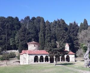 Monastery Zvernec Island